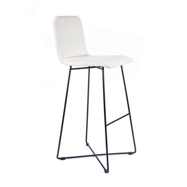 tabouret de bar design avec pieds filaires en m tal plaza 4. Black Bedroom Furniture Sets. Home Design Ideas