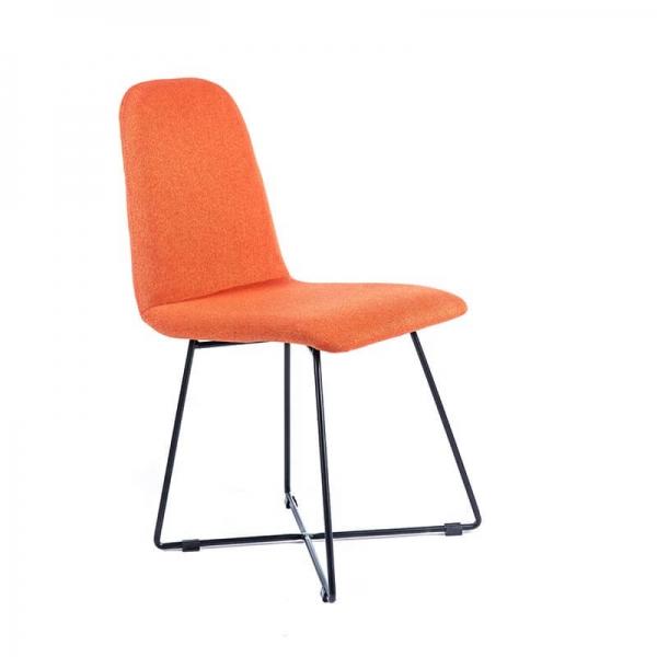 chaise design scandinave en tissu pieds filaires en m tal. Black Bedroom Furniture Sets. Home Design Ideas