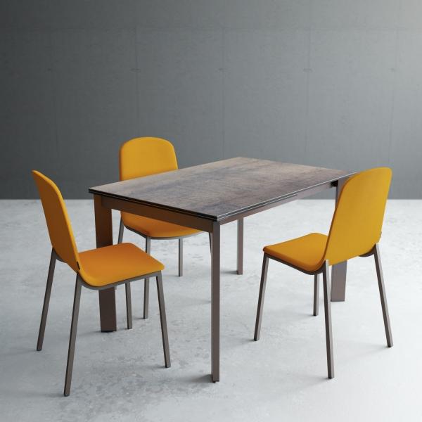 Table petit espace extensible en céramique - Poker