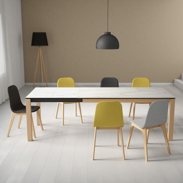 Table moderne en céramique extensible - Quadra