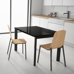 Table petit espace extensible en verre - Poker