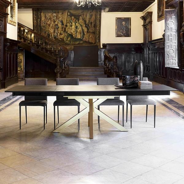 table design extensible en dekton avec pied central moon 4. Black Bedroom Furniture Sets. Home Design Ideas