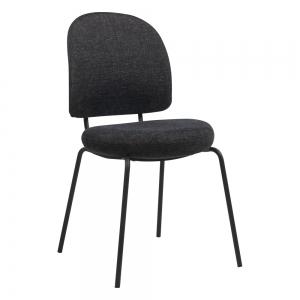 Chaise confortable avec assise et dossier rembourrés coloris gris foncé - Lilas