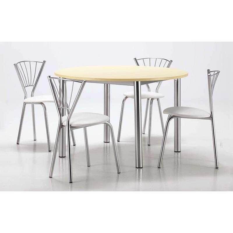 chaise de cuisine contemporaine en synth tique et m tal sandra 4. Black Bedroom Furniture Sets. Home Design Ideas