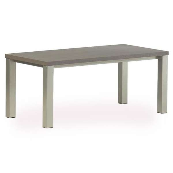 Table rectangle de cuisine en stratifi quadra 4 pieds for Table de cuisine en stratifie