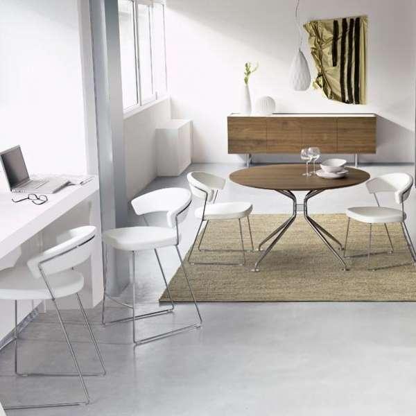 Chaise design en métal & cuir New-York Calligaris® - 5