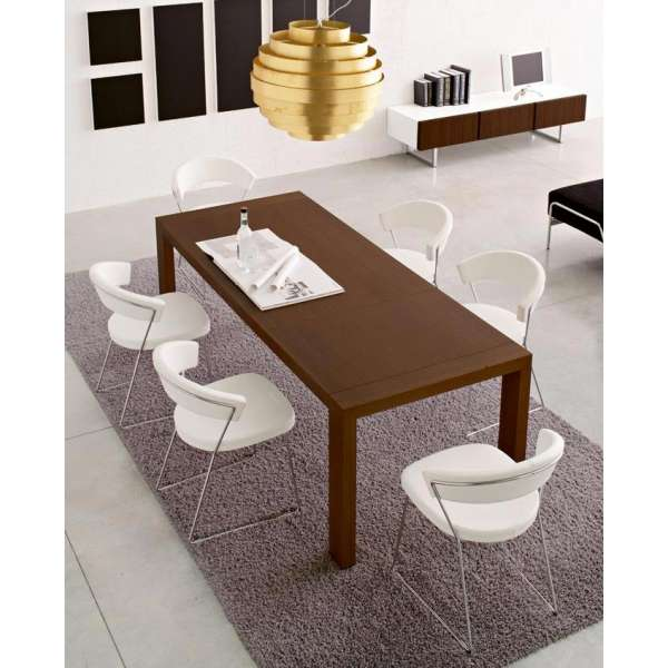 Chaise design en métal & cuir New-York Calligaris® - 7
