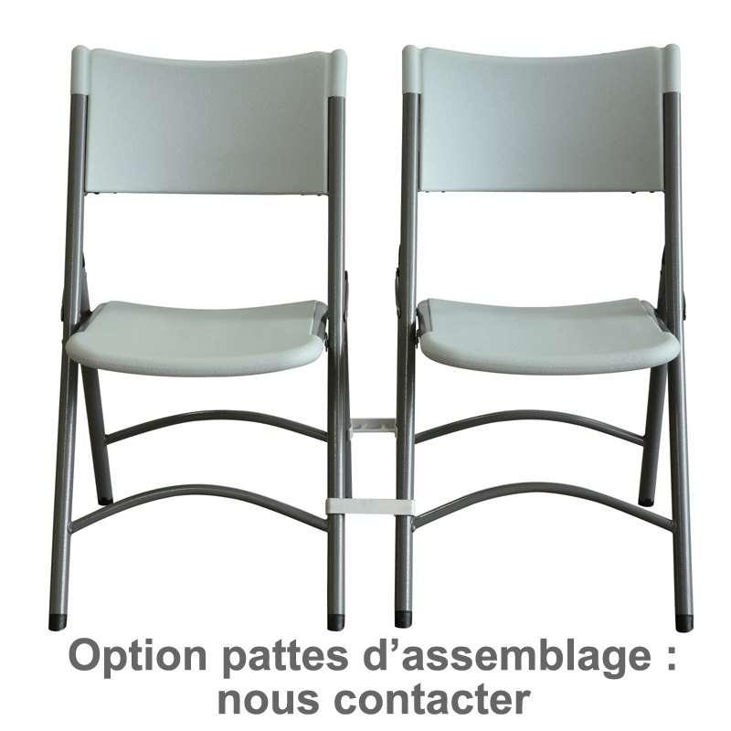 Chaise pliante en polypropyl ne otto 4 pieds tables - Chaise qui se balance ...