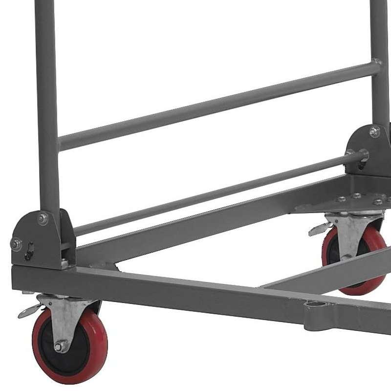 Chariot de stockage et de transport pour table pliante 4 - Chariot de transport pliable ...