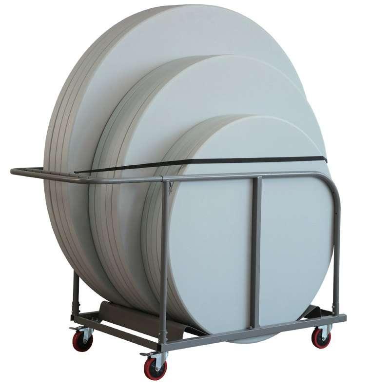 chariot pour table pliante ronde 4. Black Bedroom Furniture Sets. Home Design Ideas