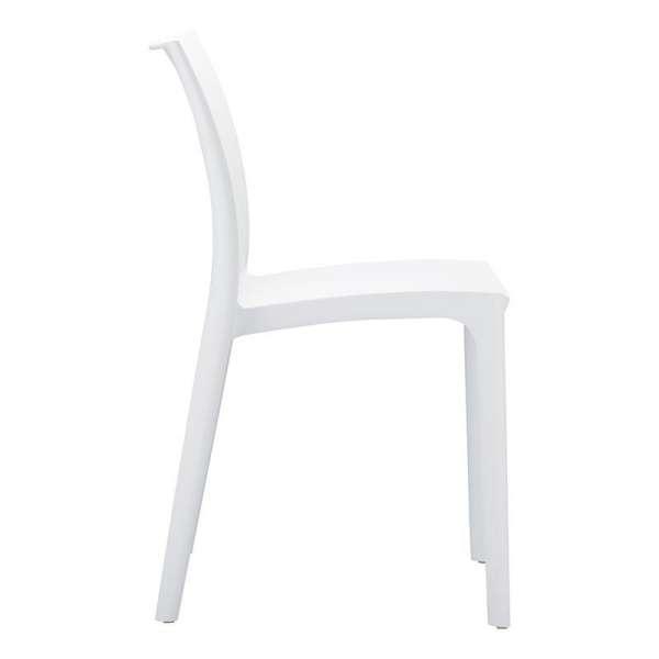 Chaise blanche empilable en plastique polypropylène - Maya - 10
