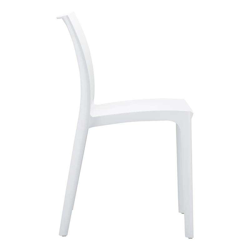 Chaise en plastique polypropyl ne maya 4 pieds tables chaises et tabou - Chaise blanche plastique ...