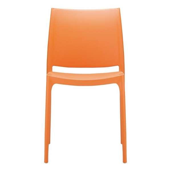 Chaise orange empilable en plastique polypropylène - Maya - 13