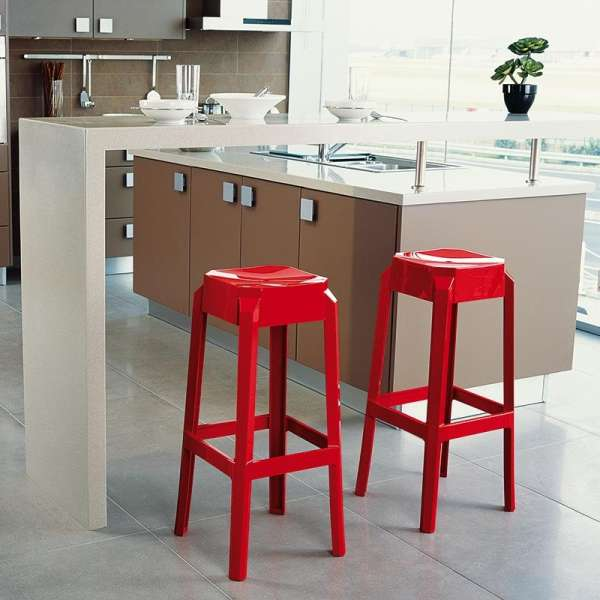 tabouret snack moderne en plexi hauteur 65 cm fox 4. Black Bedroom Furniture Sets. Home Design Ideas