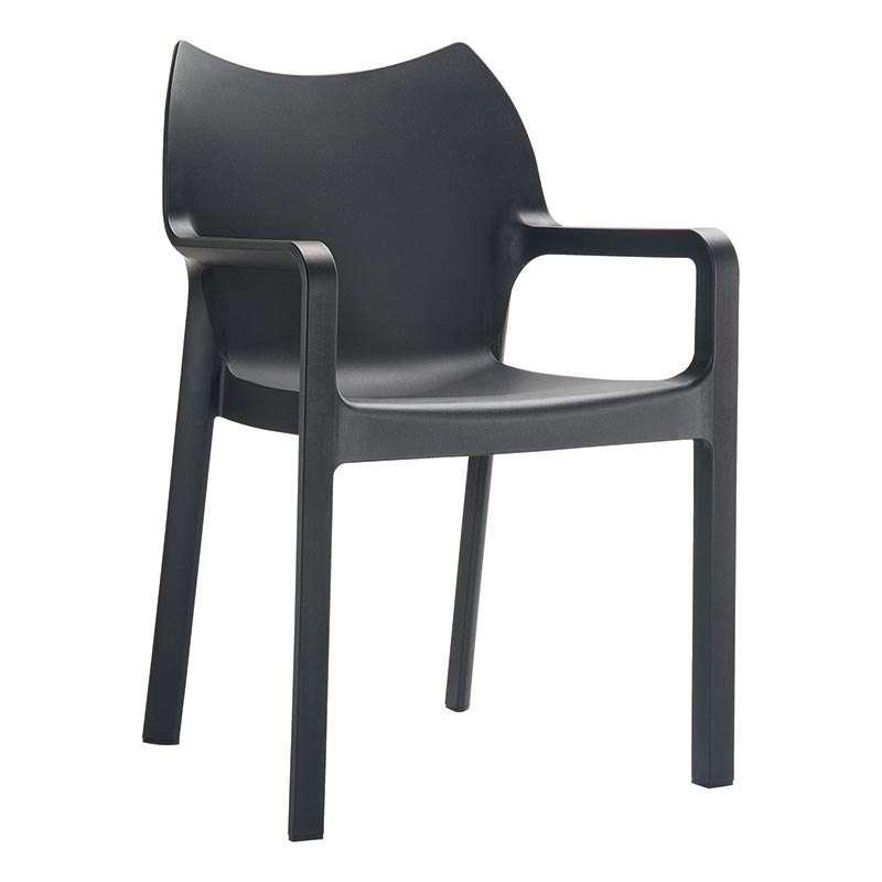 Fauteuil moderne en polypropyl¨ne Diva 4 Pieds tables