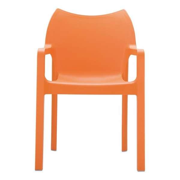 Fauteuil design orange en polypropylène - Diva - 6