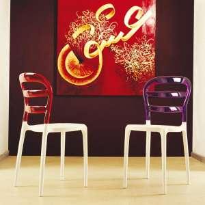 Chaise design en plexi et polypropylène - Miss Bibi