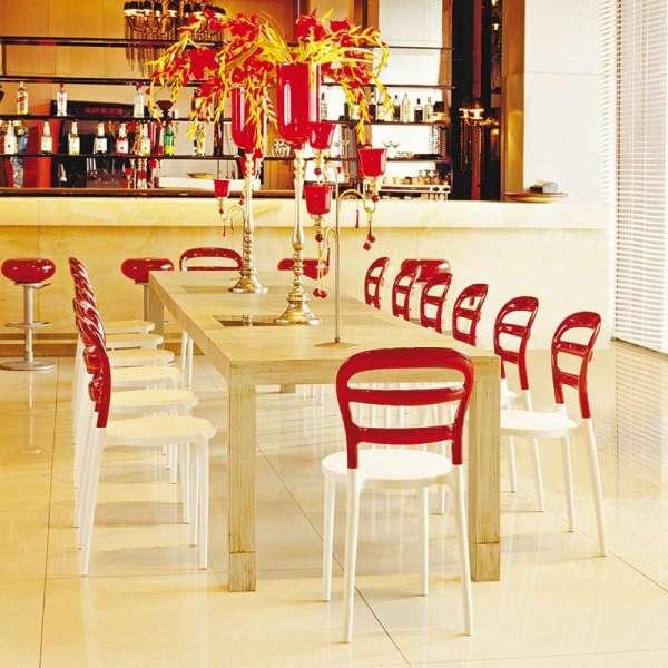 Chaise design en plexi et polypropylène d'intérieur - Miss Bibi - 3