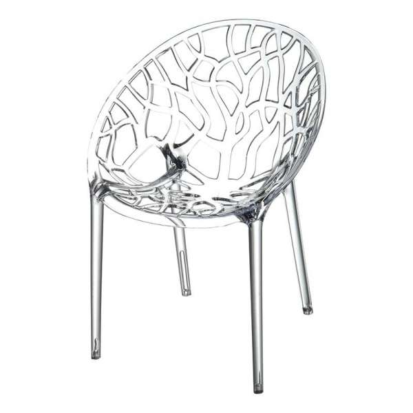 Chaise design en polycarbonate - Crystal