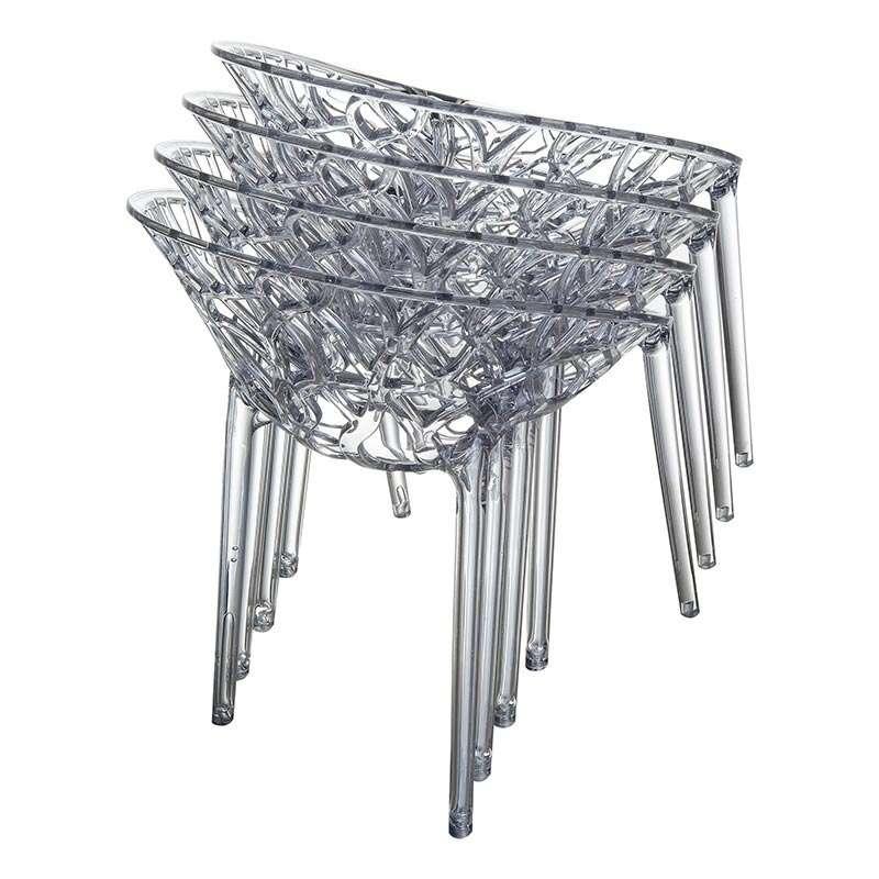 Chaise Design En Polycarbonate Crystal 4 Pieds