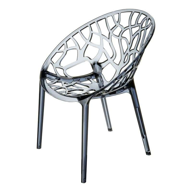 Chaise design en polycarbonate crystal 4 pieds tables chaises et tabou - Chaise design polycarbonate ...