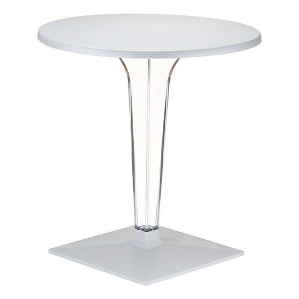 pied de table en polycarbonate transparent ice 4 pieds. Black Bedroom Furniture Sets. Home Design Ideas