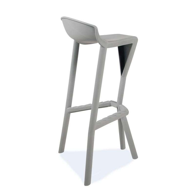 tabouret de bar design en technopolym re shiver 4 pieds tables chaises et tabourets. Black Bedroom Furniture Sets. Home Design Ideas