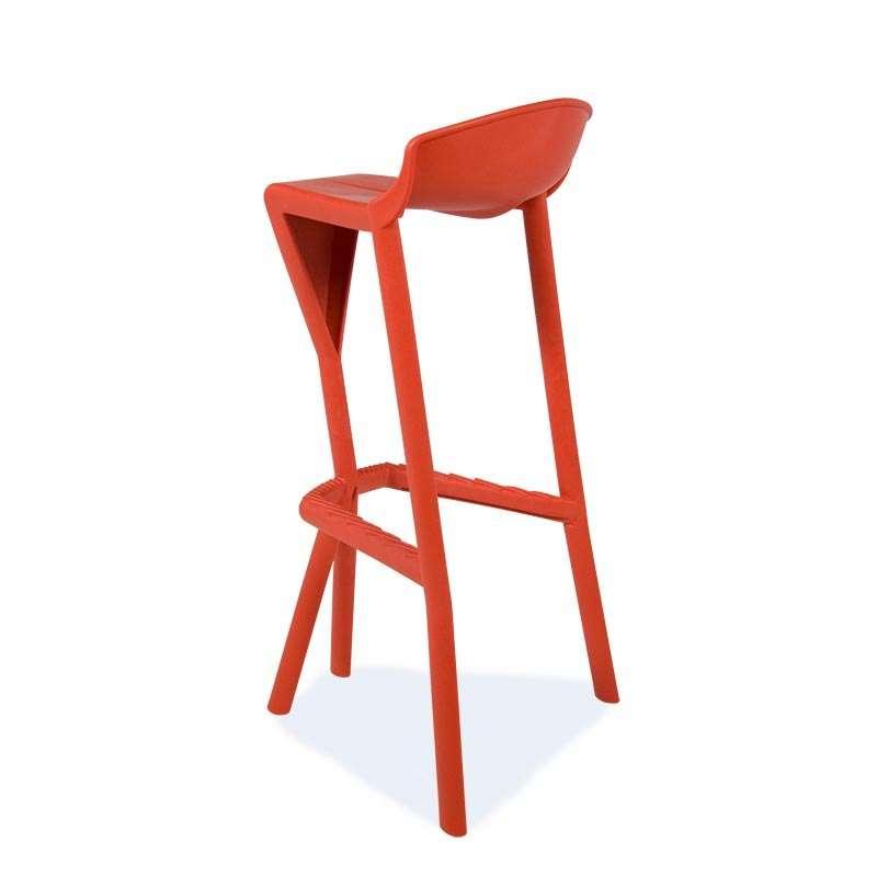 tabouret rouge en plastique shiver 9 - Tabouret Bar Design