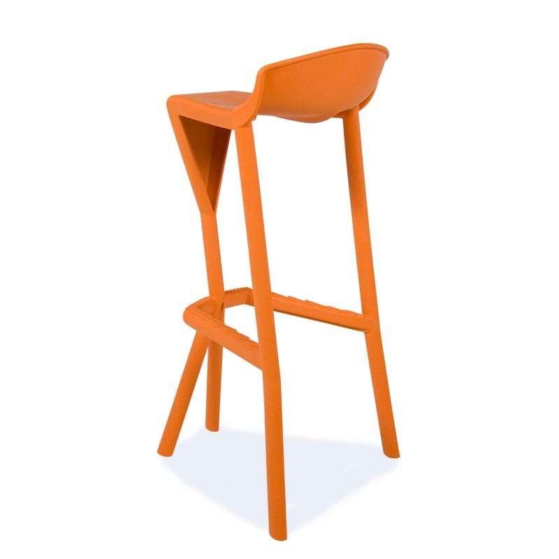 tabouret orange en plastique shiver 20 - Tabouret Bar Orange