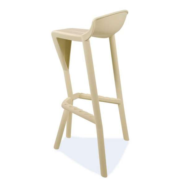 Tabouret design empilable beige - Shiver - 22