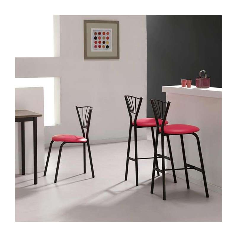tabouret snack de cuisine en synth tique et m tal sandra 4. Black Bedroom Furniture Sets. Home Design Ideas
