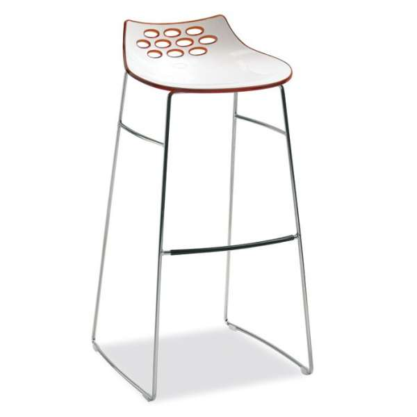 tabouret de bar design bicolore en plexi hauteur 80 cm jam connubia 4 pieds tables. Black Bedroom Furniture Sets. Home Design Ideas