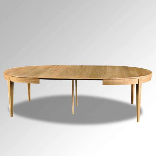 Table en bois massif ovale extensible moderne mo 4 for Table ovale avec allonges