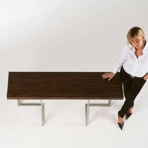 Table console modulable en bois et métal - Giravolta 150 - 4