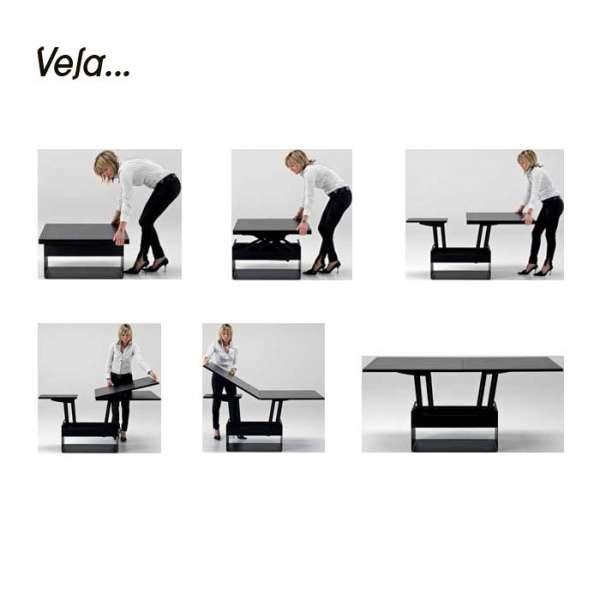 Table basse contemporaine modulable en bois - Vela - 5