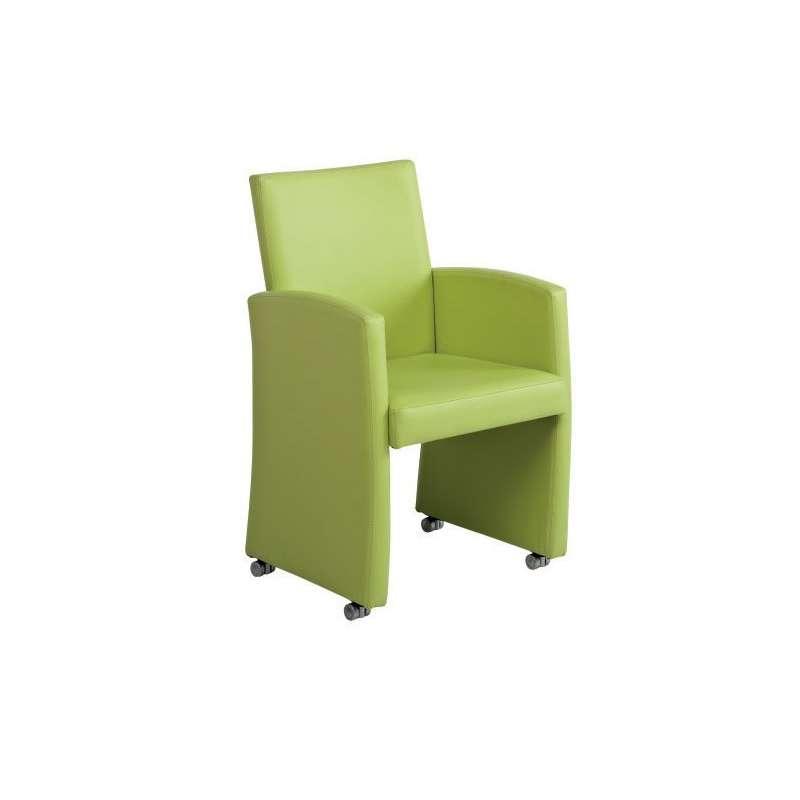 fauteuil de table en synth tique sarah 4 pieds tables chaises et tabourets. Black Bedroom Furniture Sets. Home Design Ideas