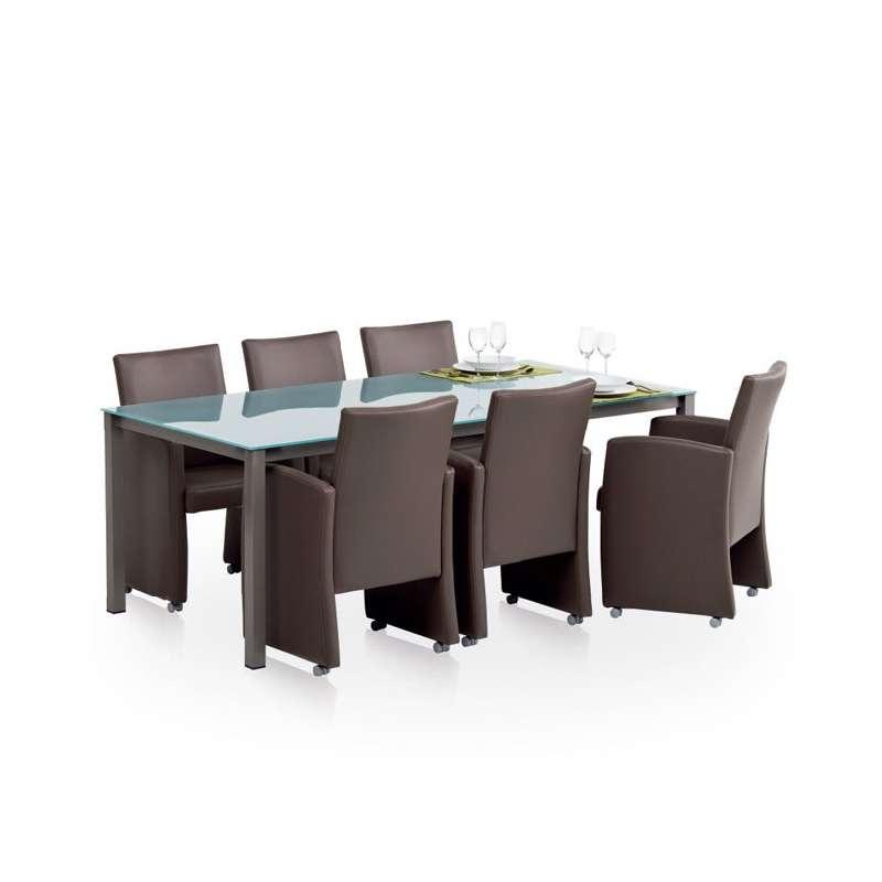 fauteuils de table en vinyl sarah 6 - Fauteuil De Table