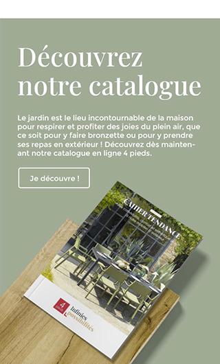 Découvrez dès maintenant notre catalogue mobilier de jardin.