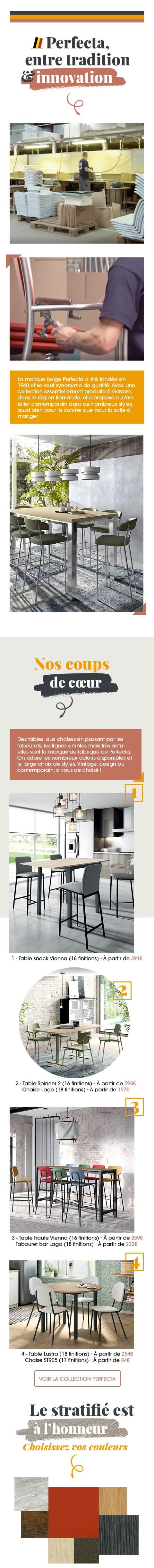 Présentation de notre partenaire Perfecta, marque belge fondée en 1960 qui se veut synonyme de qualité.