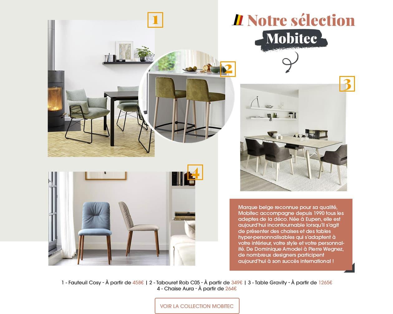 La marque belge Mobitec est reconnue pour sa qualité. Elle accompagne depuis 1990 tous les adeptes de la déco.