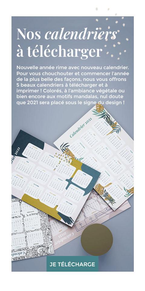 5 beaux calendriers à télécharger et à imprimer !