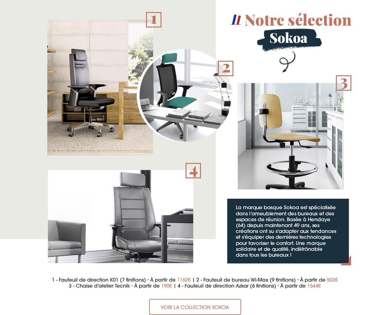 La marque basque Sokoa est spécialisée dans l'ameublement des bureaux et des espaces de réunion.